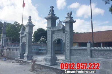 Những mẫu cổng đình bằng đá xanh nguyên khối cao cấp