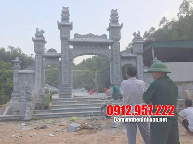 Những mẫu cổng làng bằng đá đẹp nhất Ninh Bình