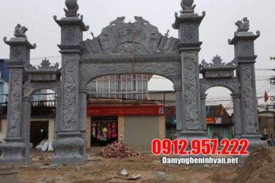 Địa chỉ xây cổng làng bằng đá đẹp tại Ninh Vân – Ninh Bình