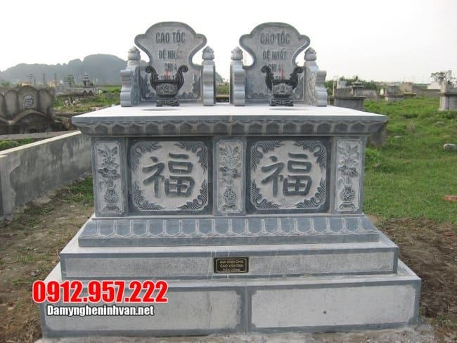 Mẫu mộ đá đôi đẹp nhất dành cho hai người được ưa chuộng nhất 2020