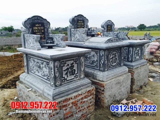 Mẫu mộ đá xanh thanh hóa