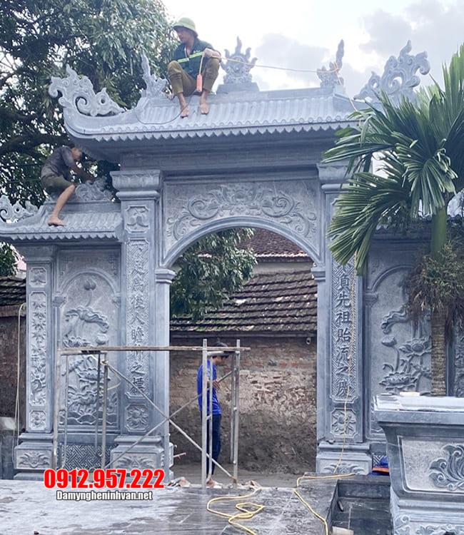 Cổng nhà thờ tộc - Các mẫu cổng nhà thờ tộc bằng đá đẹp