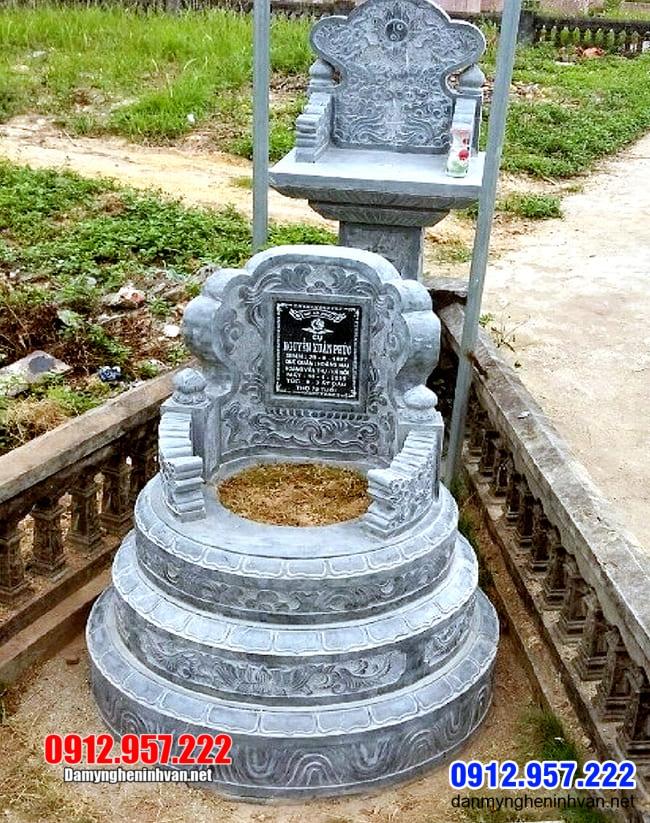 mộ tròn bằng đá xanh