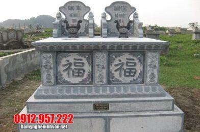 Mộ đôi bằng đá đẹp tại Hưng Yên – Địa chỉ làm mộ đôi đá tại Hưng Yên