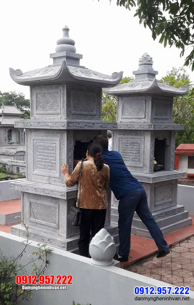 Mộ tháp đá tại Bình Thuận - Cơ sở bán mộ đá hình tháp tại Bình Thuận