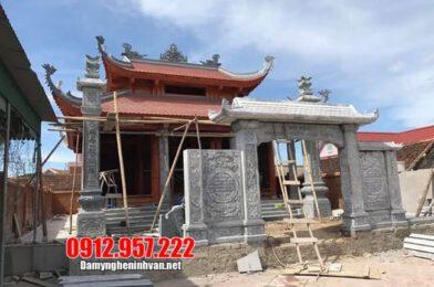 Cổng tam quan đá tại Hòa Bình – Lắp đặt cổng đá nhà thờ họ tại Hòa Bình