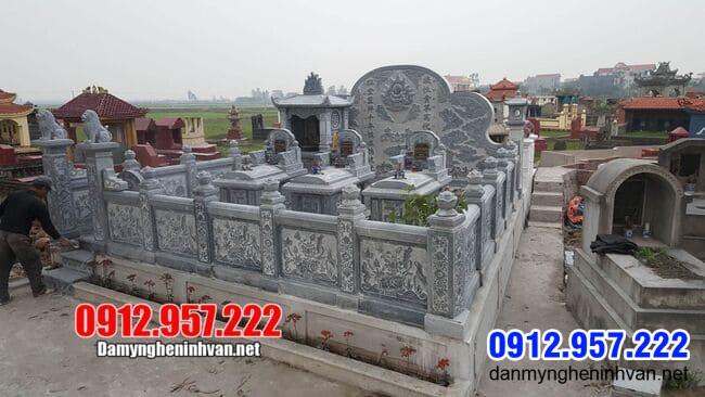 Lăng mộ đá tại Bình Phước - Mẫu khu lăng mộ bằng đá tại Bình Phước