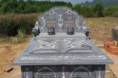 Mẫu mộ đôi bằng đá tại Bình Thuận – Lắp đặt mộ đá đôi tại Bình Thuận