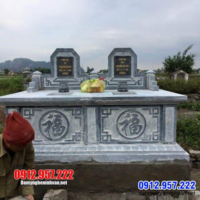 Mẫu mộ đôi bằng đá tại Bình Phước - Mộ đá đôi tại Bình Phước đẹp nhất