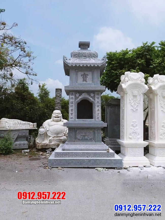 15 Mẫu tháp mộ bằng đá để hũ tro cốt tại An Giang