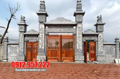 Cổng nhà thờ họ tại Thái Nguyên – Mẫu cổng nhà thờ họ bằng đá đẹp nhất