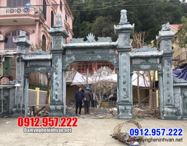 cổng nhà thờ họ bằng đá đẹp nhất tại Thái Nguyên