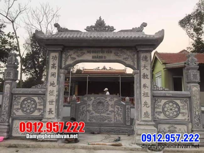mẫu cổng đá nhà thờ họ đẹp tại Thái Nguyên