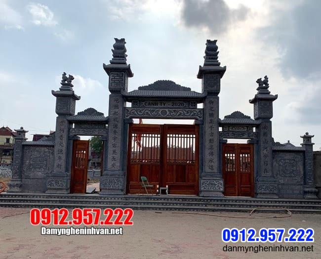 Cổng nhà thờ họ tại Thái Nguyên - Mẫu cổng nhà thờ họ bằng đá đẹp nhất