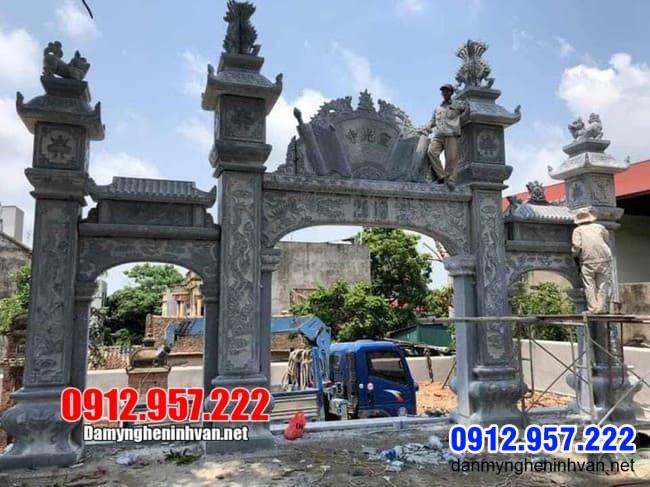 mẫu cổng tam quan bằng đá tại Lạng Sơn