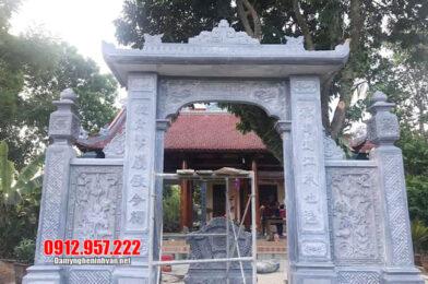 Cổng đá đẹp tại Thái Bình – Mẫu cổng tam quan bằng đá tại Thái Bình
