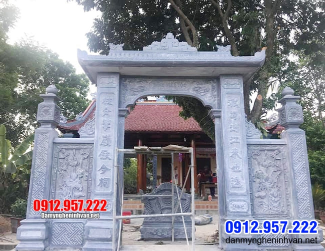 Cổng đá đẹp tại Thái Bình - Mẫu cổng tam quan bằng đá tại Thái Bình