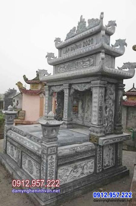 Kiểu mộ đôi đẹp làm bằng đá ưa chuộng tại Cần Thơ