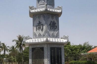 Lắp đặt tháp mộ bằng đá để tro cốt đẹp nhất tại Hậu Giang