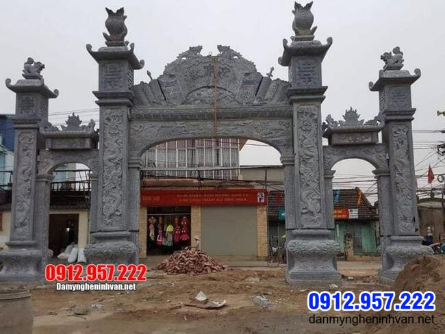 Mẫu cổng chùa tại Bạc Liêu