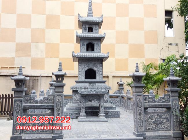 Mẫu mộ tháp đá đẹp tại Trà Vinh