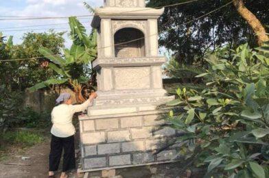 Mẫu tháp mộ đá đẹp – Mộ tháp bằng đá để thờ hũ tro cốt tại Bến Tre