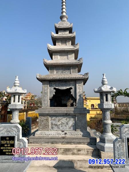Tháp mộ đá đẹp để tro cốt tại Vĩnh Long - Mẫu tháp mộ đá tại Vĩnh Long