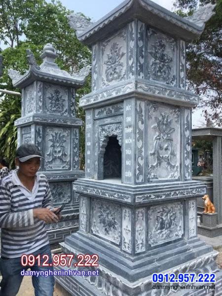Tháp mộ đá đẹp để tro cốt tại Vĩnh Long