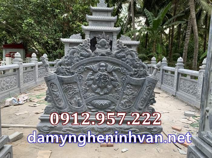 Bức chắnn phong nhà mồ tại Vĩnh Long - Tấm chắn phong nhà mồ