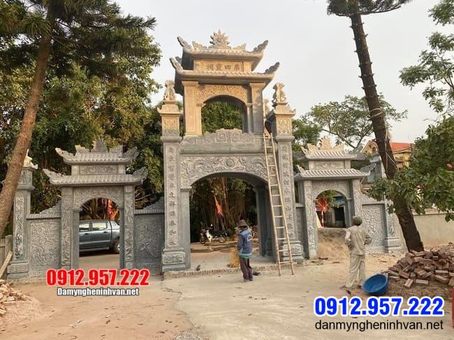 cổng chùa bằng đá đẹp nhất tại Bạc Liêu