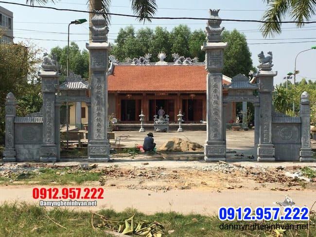 cổng chùa bằng đá đẹp tại Bạc Liêu