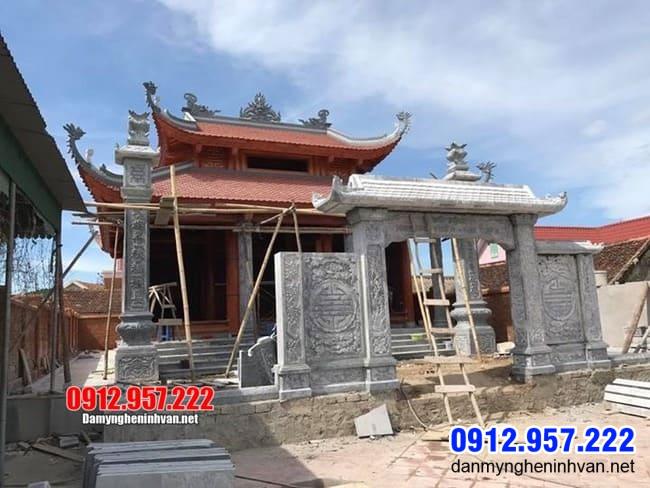 cổng chùa bằng đá tại Bạc Liêu