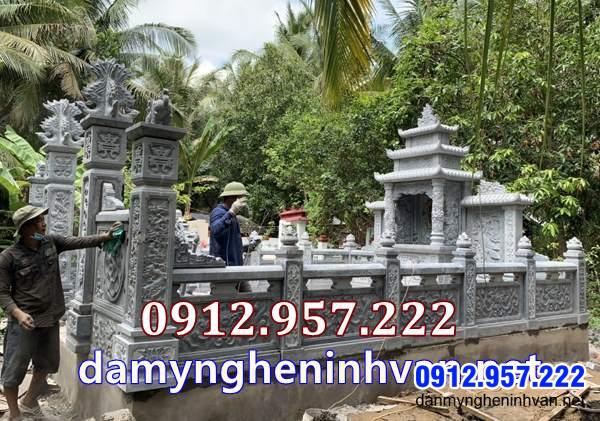 Hàng rào tường rao lan can nhà mồ tại Vĩnh Long