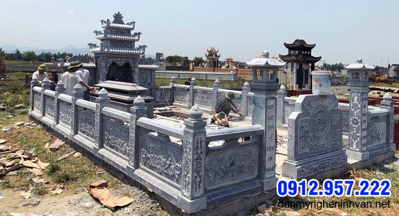 hành lang khu nhà mộ bằng đá đẹp nhất
