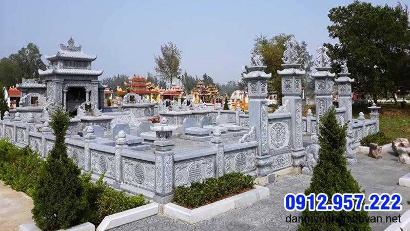 hành lang khu nhà mộ bằng đá đẹp