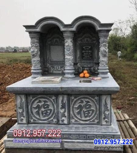 kiểu mộ đôi bằng đá đẹp tại Bến Tre