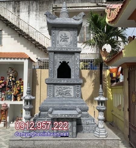 lắp đặt mộ tháp đá tại Hậu Giang