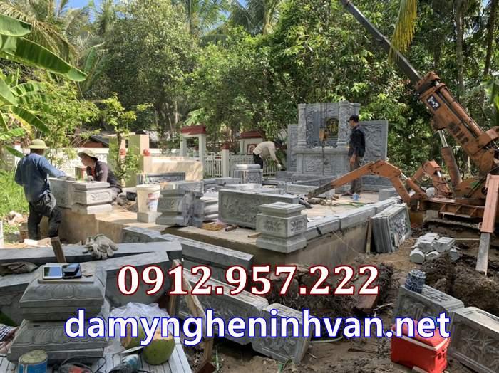 Lắp đặt nhà mồ bằng đá tại Vĩnh Long