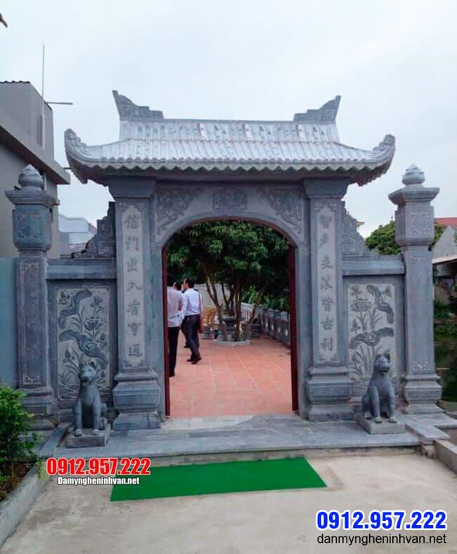 Cổng đá tại An Giang - Mẫu cổng chùa bằng đá tại An Giang
