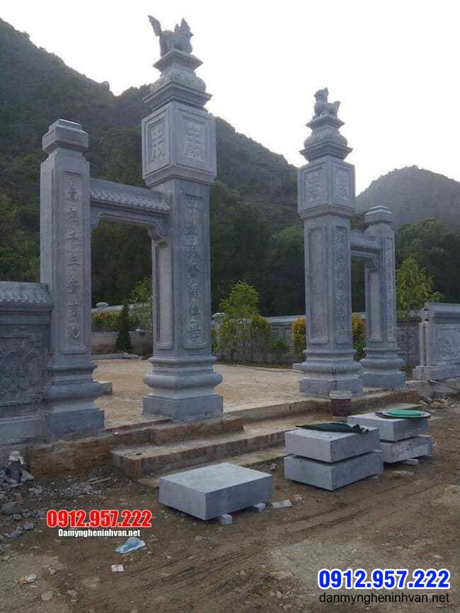 mẫu cổng tam quan đá tại Bạc Liêu