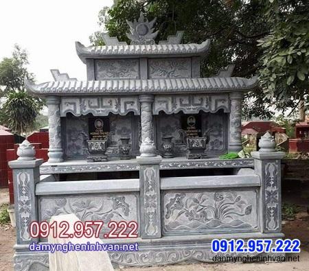 mẫu mộ đôi bằng đá đẹp nhất tại Cà Mau