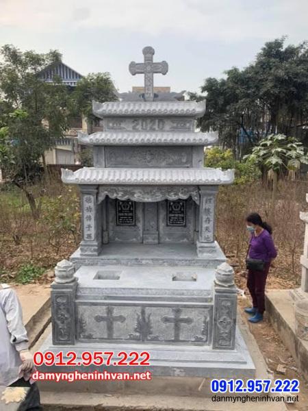 mộ đá đôi đẹp tại An Giang