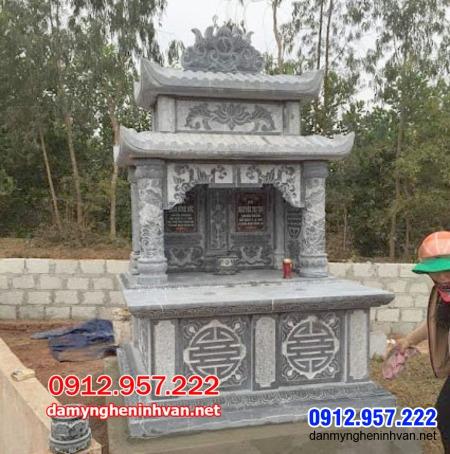 mộ đôi bằng đá đẹp nhất tại An Giang