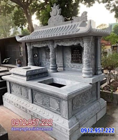 mộ đôi bằng đá đẹp nhất tại Cà Mau