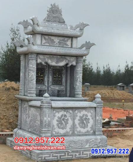 mộ đôi bằng đá đẹp tại An Giang