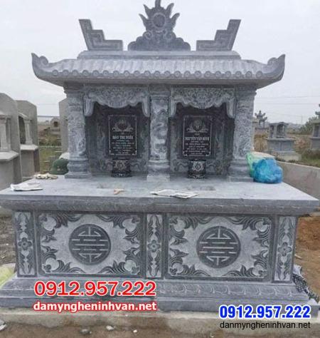 mộ đôi bằng đá tại An Giang