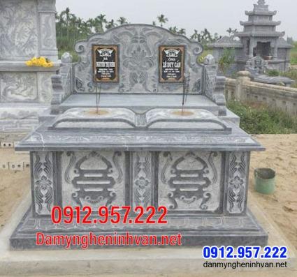 mộ đôi đẹp tại Bạc Liêu - Mộ đá đôi đơn giản đẹp tại Bạc Liêu 10