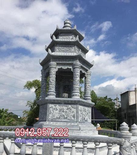mộ tháp đá đẹp nhất tại Hậu Giang