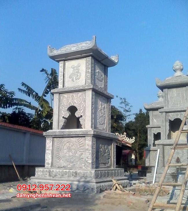 mộ tháp đá đẹp nhất tại Trà Vinh