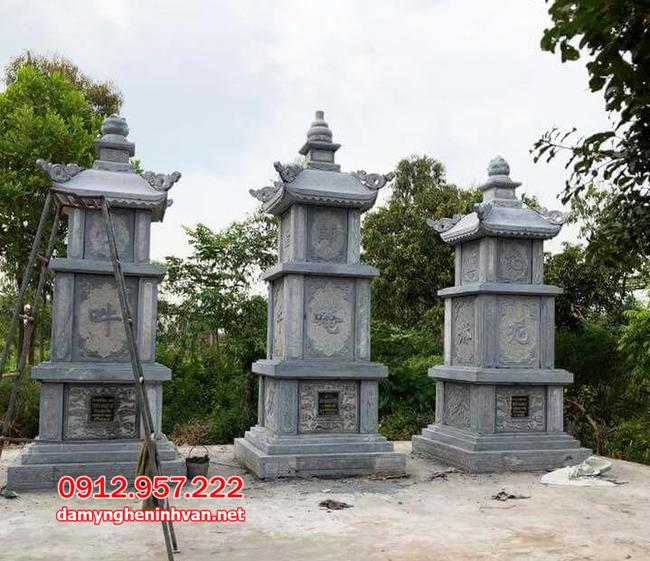 mộ tháp đá đẹp tại Trà Vinh